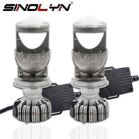 SINOLYN Bi LED H4 9003 Car Light Projector Headlights Lens 5500K For Headlamp Retrofit DIY EMC Decorder Canbus Mini 1.5 inch
