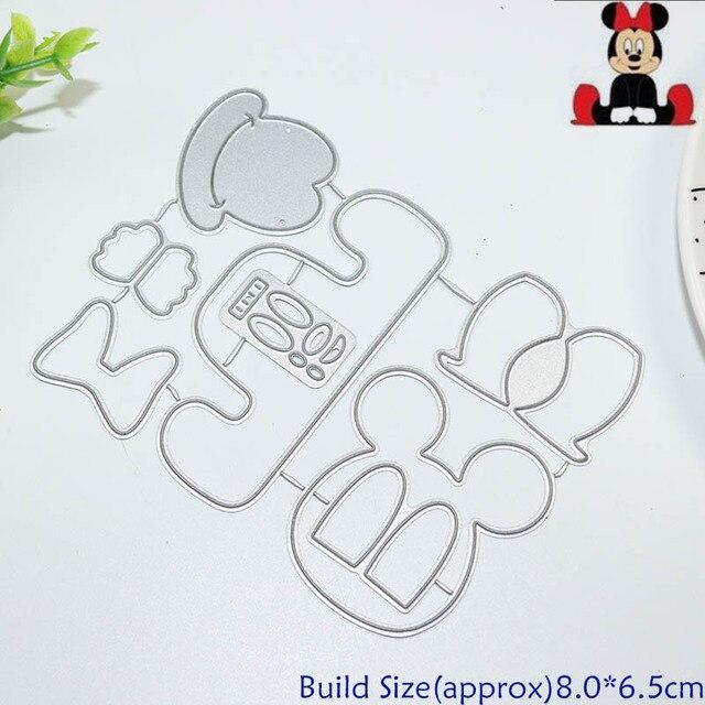 Metal Cutting Dies Die Cut Mouse Build Up Collage Dies Scrapbook