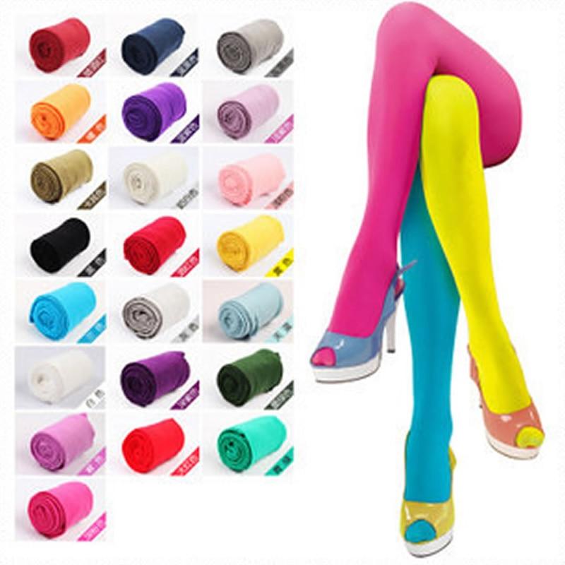 120D Damen Strumpfhose Samt Candy Farbe Hochwertige Strümpfe Winter Herbst Fitness Strumpfhosen Kostenloser Versand