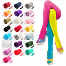 120D Women Tights Velvet Candy Color High Quality Stockings Winter Autumn Fitness Pantyhose Free Shipping(China)