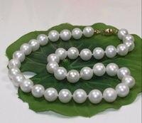 Продажа огромных идеально 18 11 12 ММ ЮЖНОГО МОРЯ натуральная круглый белый обработанный фианит размера AAA жемчужное ожерелье Новый