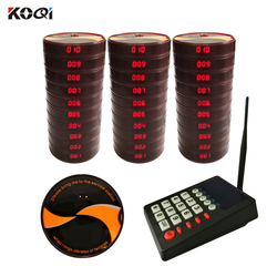 Ycall Wireless Calling System Restaurant Pager 30 Coaster Pager 1 Transmitter Call System Restaurant Equipment K-999+K-14