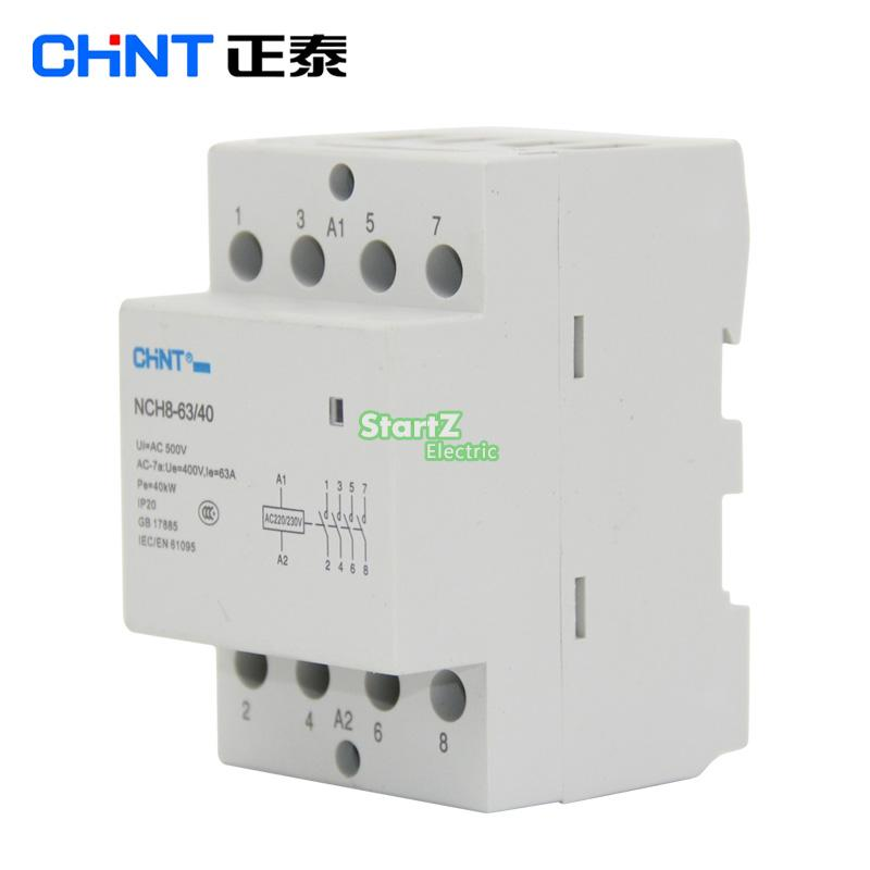 Image 2 - CHNT  NCH8 63/40   63A 400V  4NO   Din rail Household AC Contactor-in Contactors from Home Improvement