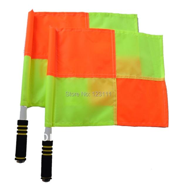 Sports Football Soccer training linesman referee flags Signal flags set neon checker,referee equipment 2/set,30x40x45cm
