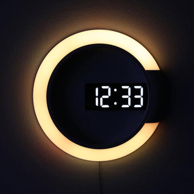 3D LED Modern Design Digital Wall Clock