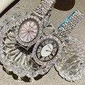 Часы женские  модные  кварцевые  водонепроницаемые  розовое золото  сталь