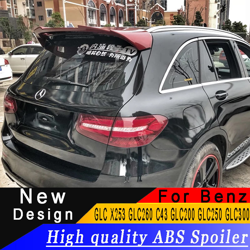 High quality ABS spoiler any color or primer Automobile beautification spoiler for Benz GLC X253 GLC260 C43 GLC200 GLC250 GLC300High quality ABS spoiler any color or primer Automobile beautification spoiler for Benz GLC X253 GLC260 C43 GLC200 GLC250 GLC300