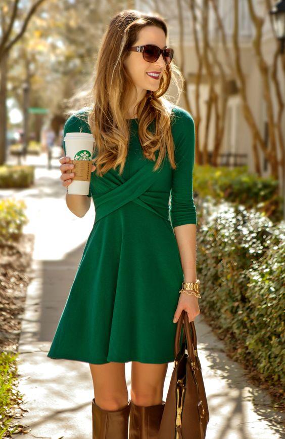 Vestidos verdes cortos mujer
