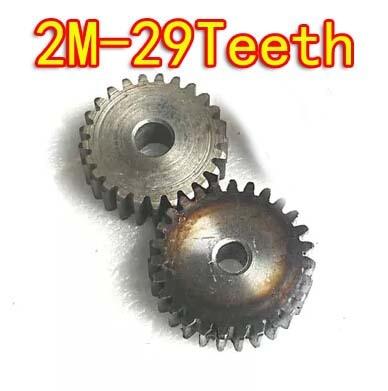 2pcs  Diameter:60mm   2M-29Teeth  45steel Metal cylinder spur gear diy motor gearbox.--hole d:8mm diy 3mm 45 steel gear wheel motor 2 pcs