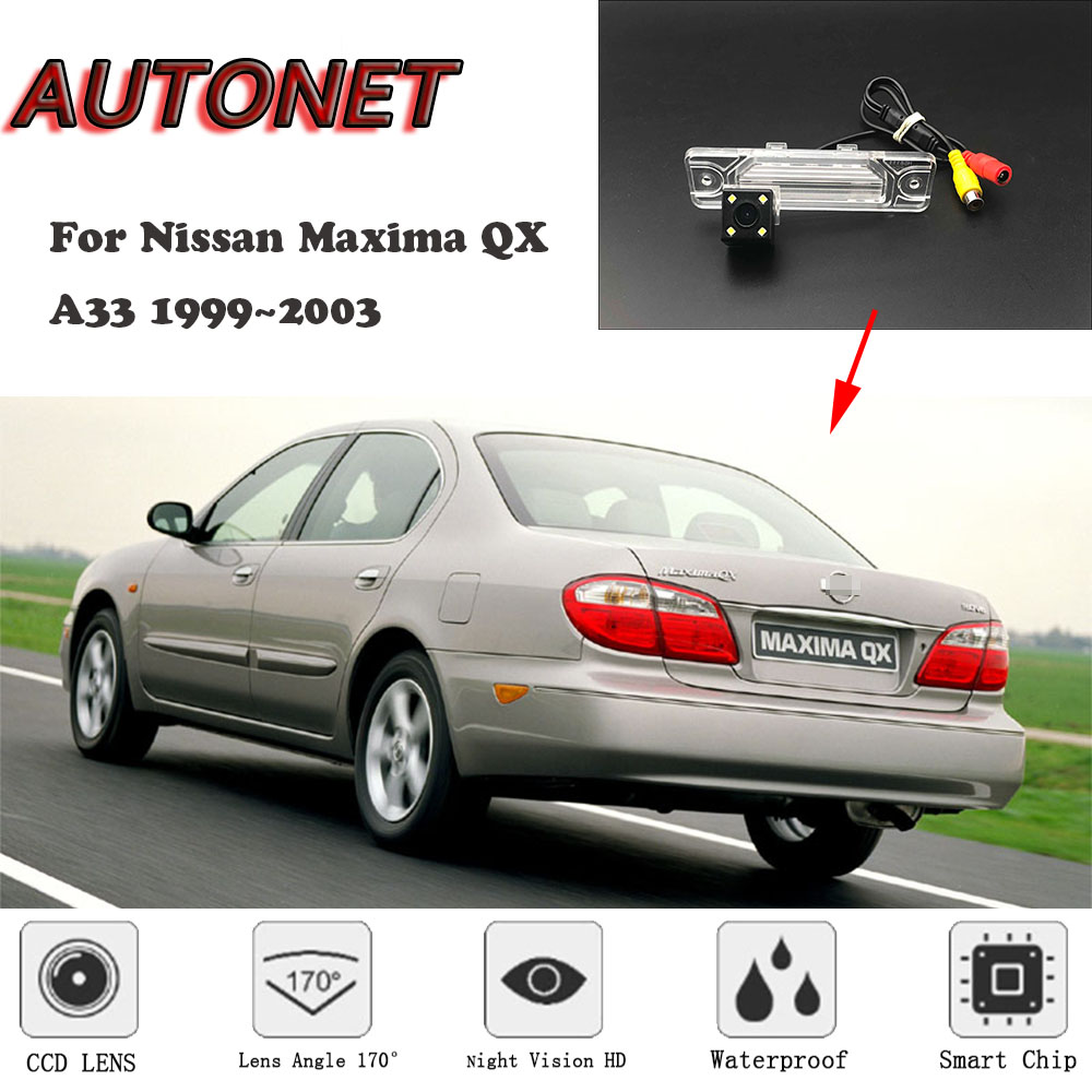 AUTONET HD Night Vision Backup Rear View Camera For Nissan Maxima QX A33 1999~2003 CCD/license Plate Camera Or Bracket