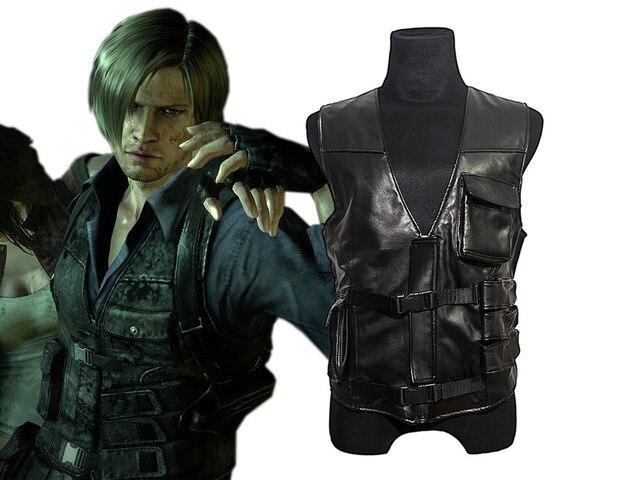 reputable site 31200 a5381 2016-Resident-Evil-6-Leon-Kennedy-pu-Faux-cuero-chaleco-Cosplay.jpg 640x640.jpg