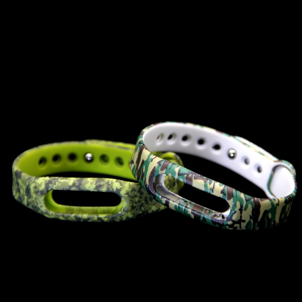camouflage silicone interchangeable band for xiaomi smart