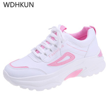WDHKUN Women Casual Shoes Femme 2019 Spring Autumn Shoes Women Sneakers Flats Fashion Lace-Up White Breathable woman Sneakers