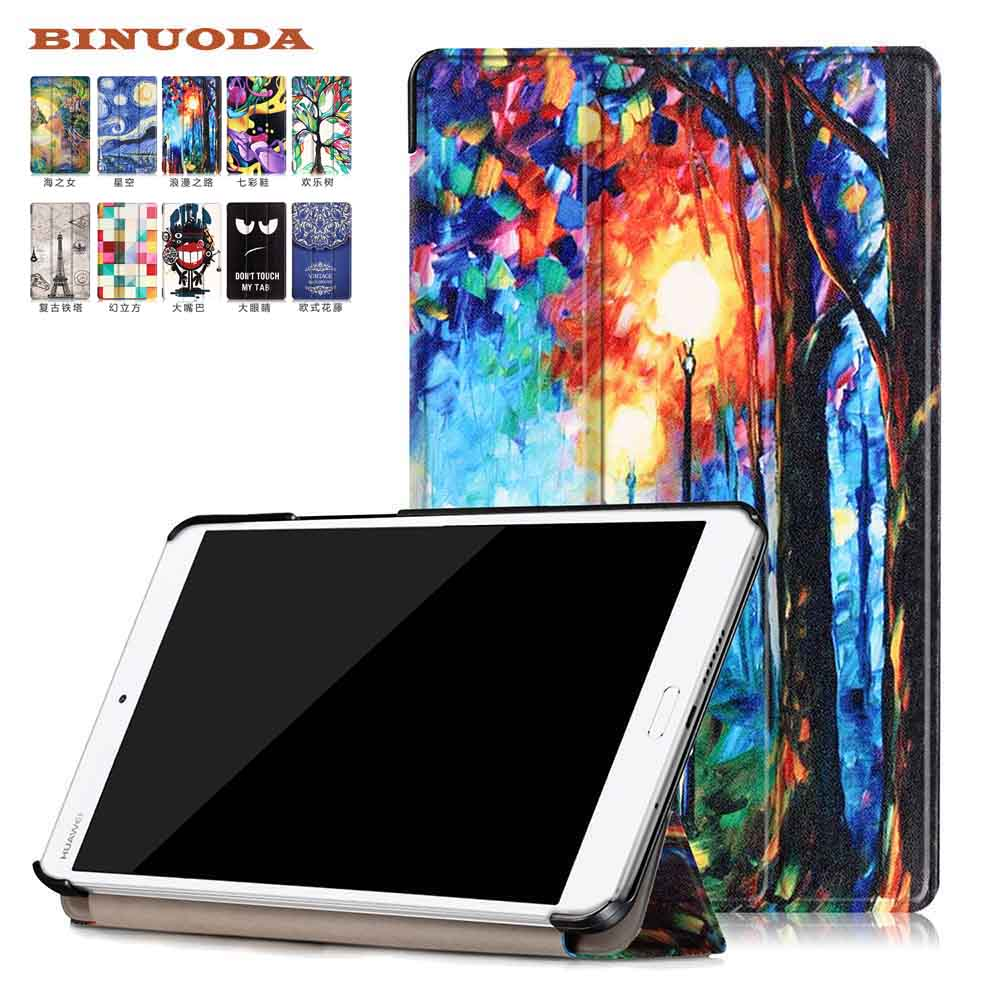 For Huawei Media Pad M3 8.4 Coque Cover Case Colorful Painting PU Leather Cases for Huawei Media Pad M3 8.4 inch Tablet Skin new case for huawei media pad m2 lite ple 703l 7 cover pu leather flip folding case shell tablet pc cases stylus free shipping