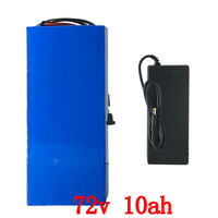 72V battery pack 72V 10AH electric bike batttery 72V Lithium battery with 30A BMS and 84v 2a charger for 1000W 1500W 2000W motor