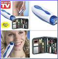 2015 AS SEEN ON TV Wizzit hair remover set High Quality electric epilator + makeup tools + storage bag lady suit TV in stock