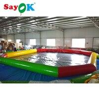 10 м большой ПВХ плавательный бассейн надувной водные игры для детей