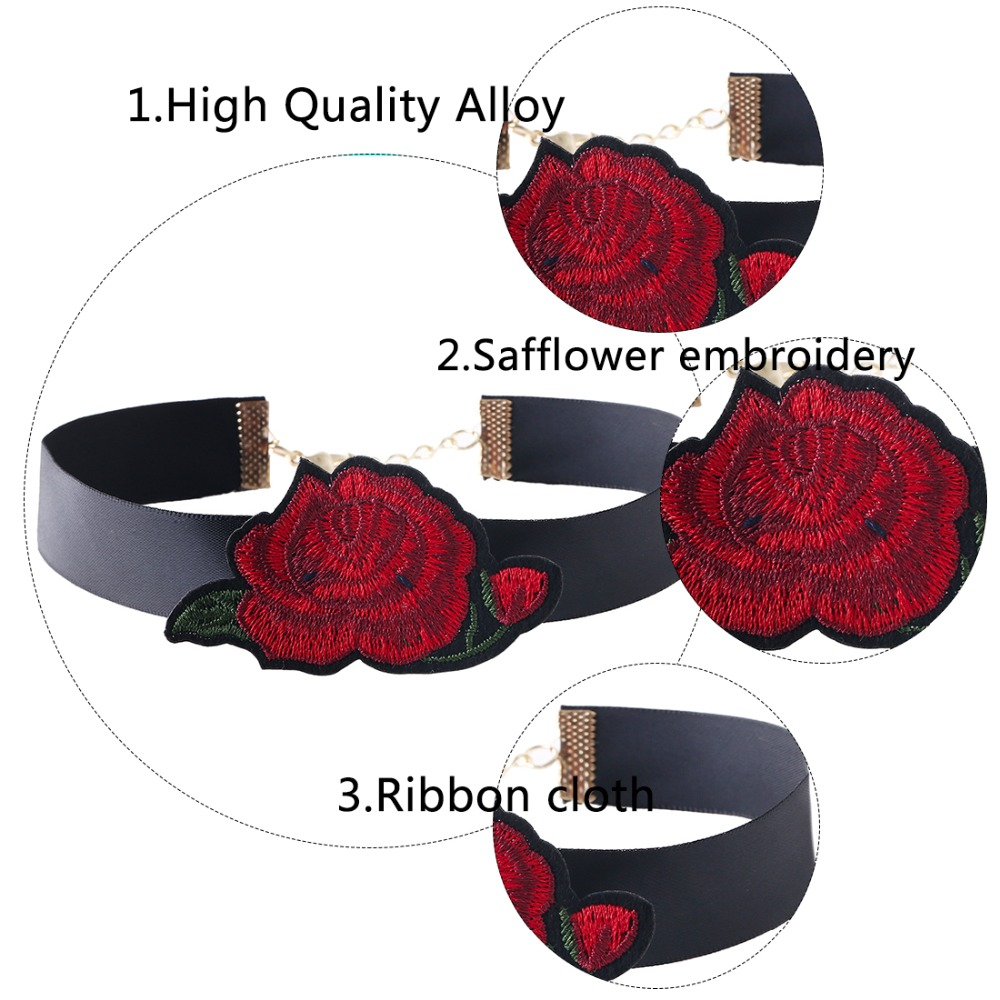HTB1vRyEQXXXXXXlXFXXq6xXFXXXO Tattoo Style Embroidered Flower Fashion Choker For Women - 2 Styles