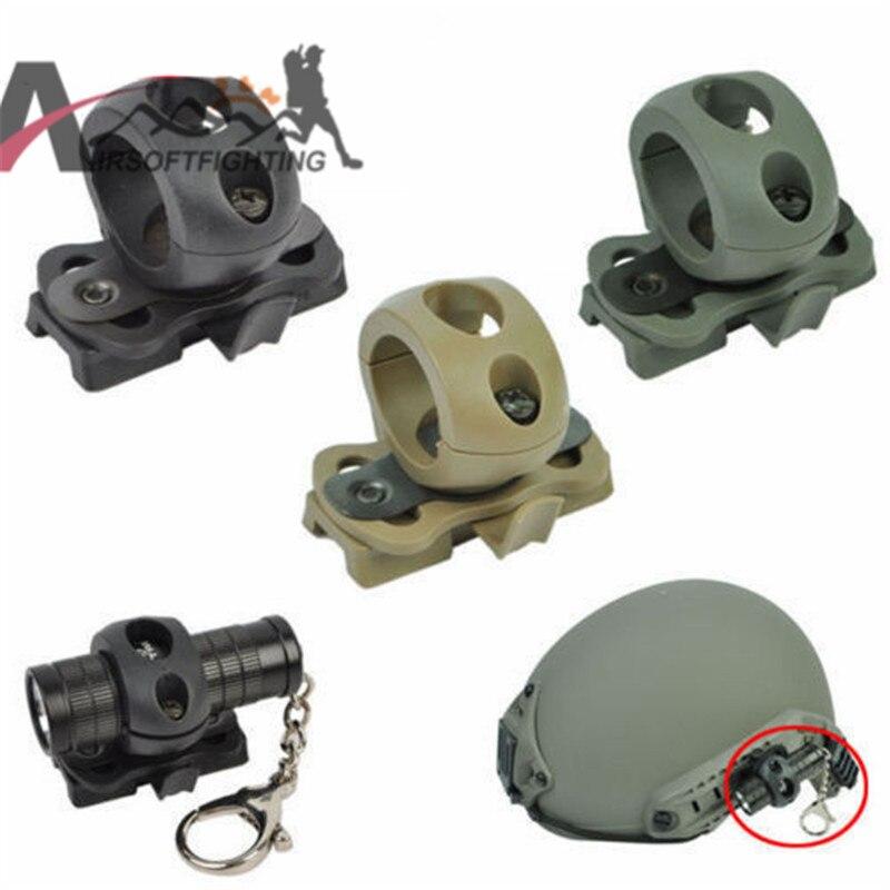 1 pulgadas 25.4mm Flashlight Mount Holder Clamp Adaptor para Casco Rápido Casco