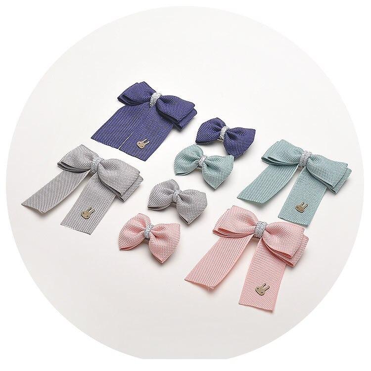 2 PCS Cute Handmade Ribbon Bowknot Hairpins Hair Ornaments Girls Hair Accessories Children Clip Kids Barrettes
