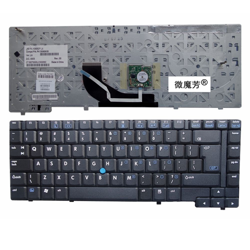 New English Laptop Keyboard For  HP  NC6400 6400  UI  Layout  With Point Stick BLACK  Replacement  Keyboards