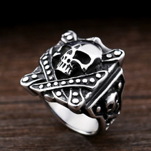 Фотография steel soldier stainless steel high quality fashion eagle design smart ring for men rings