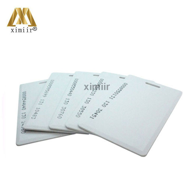 10pcs/lot Em4200 125khz Rfid Card Readable Proximity Id Thick Cards Em-02b Be Shrewd In Money Matters Access Control