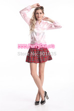 Free shipping 890 fancy dress pink ladies grease jacket