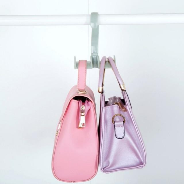 Hooks Rotation Closet Organizer Rod Hanger Handbag Storage Purse Hanging  Rack Holder Hook Bag Clothing Hanger