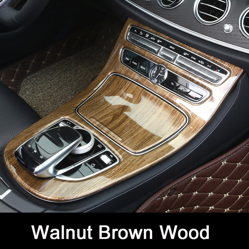 ABS Plastic Car Center Console Panel Decoration Cover Trim Walnut Brown Wood For Mercedes Benz E Class W213 2016-17 Car Styling car seat cover automobiles accessories for benz mercedes c180 c200 gl x164 ml w164 ml320 w163 w110 w114 w115 w124 t124