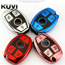 Tpu Key Cover Case For Mercedes Benz Keychain keyring CLS CLA GL R SLK AMG A B C S class key shell programmer