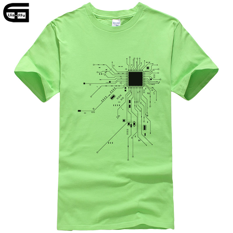 Computer CPU Core Heart   T  -  Shirt   Men's GEEK Nerd Freak Hacker PC Gamer Tee Summer Short Sleeve Cotton   T     Shirt   Euro Size T309