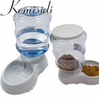 KEMISIDI Dog Automatic Food Water Feeder Pet Feeder For Dog Cat Drink Eat Automatic Food Bowl