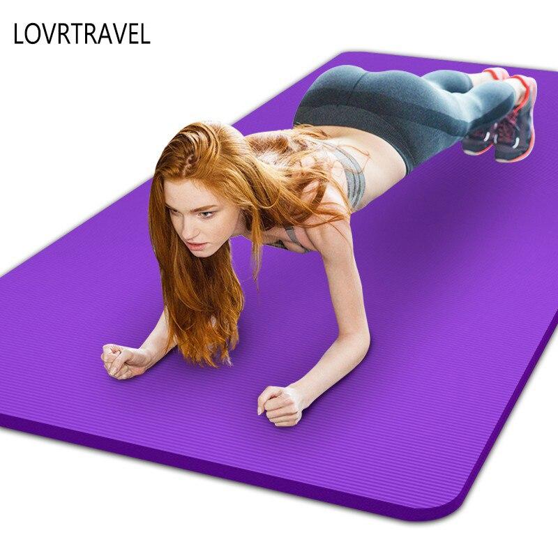 Новый Тренировочный мат 10/15 мм толстой нескользящей ковер Пилатес Йога Похудение упражнения ковры складной Фитнес ковер для Фитнес