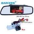"""4.3 """"ЖК-экран зеркало + ccd камера заднего вида автомобиля принести 4 светодиода для Renault Fluence/Dacia Duster/Megane 3/для Nissan Terrano"""