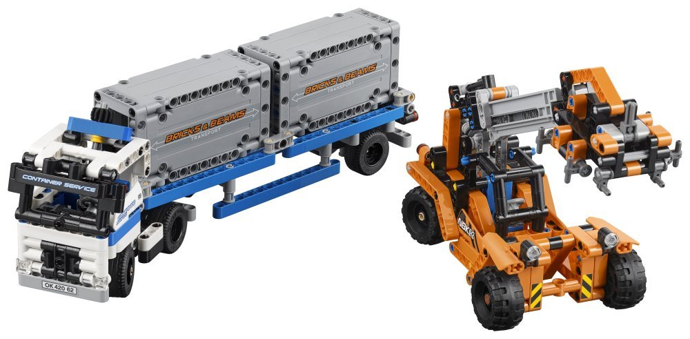 ФОТО 20035 Technic Container Yard Loader Truck Building Block Set Kids Car Toys Gifts Collection 42062 Compatible