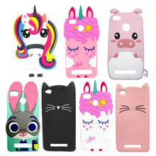 Cute 3D Cartoon Silicon Case For Xiaomi Redmi 5A Cases Glitter Beard Cat Lovely Ears Pig Rabbit Unicorn Phone Cover Redmi5A 5 A