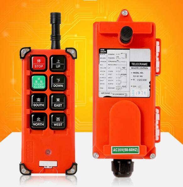 F21-E1B Industrial remote controller Hoist Crane Control Lift Crane 1 transmitter + 1 receiver AC110V 220V 360V DC 12V 24V 48V цена