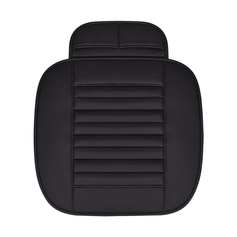 Single Front Automobile Seat Cushion Cover Simple Wear-resistant PU Leather Bamboo Charcoal Driver Car Seat Pad Mat SEEONKA