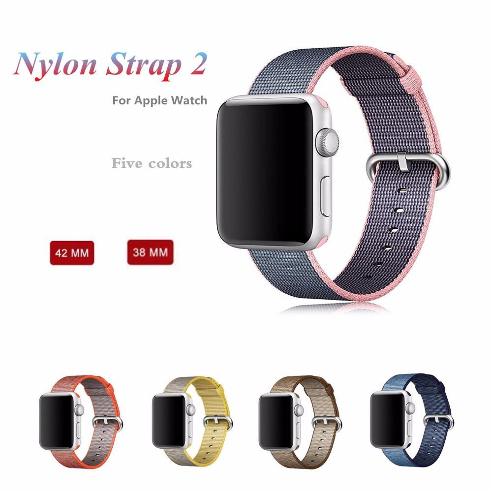Prix pour Sport Tissé sangle en nylon Pour Apple Montre bande 38/42mm bracelet hommes femmes et 20mm 22mm nylon bracelet bracelet pour iwatch 1 2