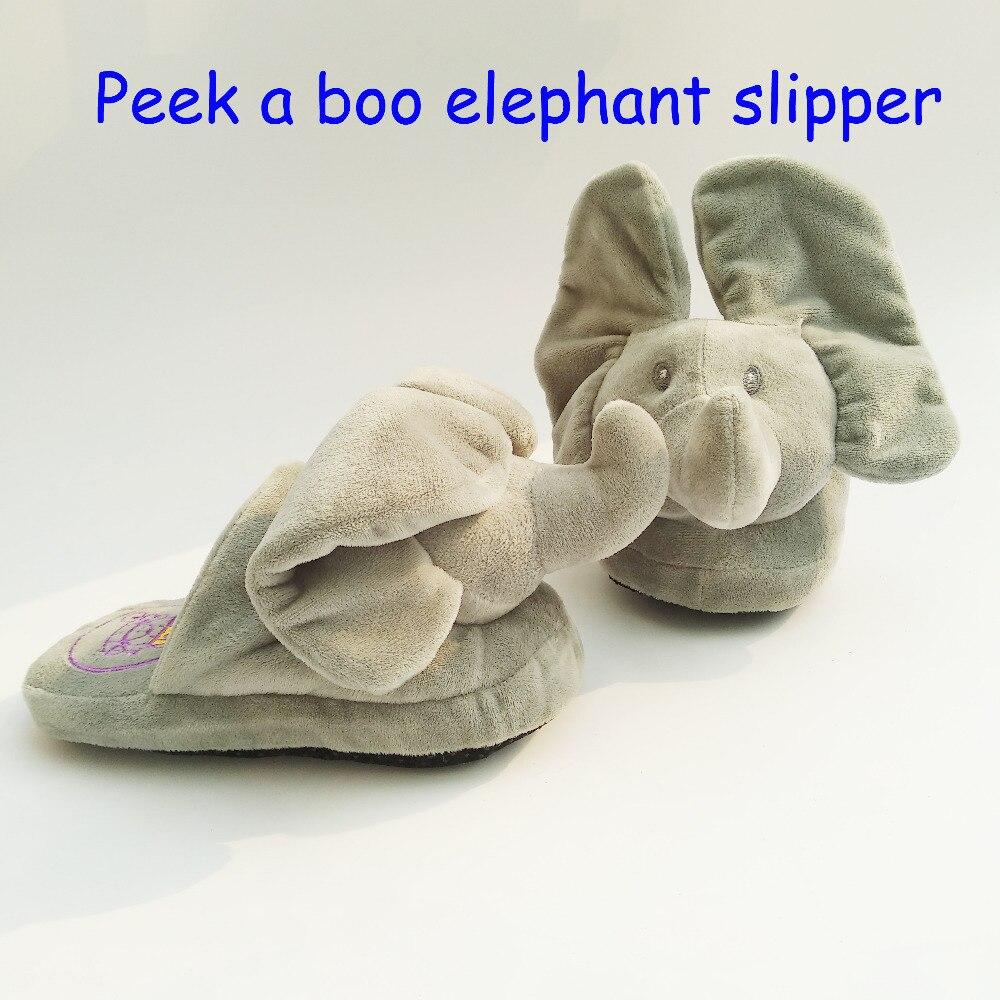 Neue Peek A Boo Elefanten Pantoffel Spielzeug & Stofftiere Elefanten Hause Pantoffel Die Beste Geschenk Für Ihre Geliebten Person