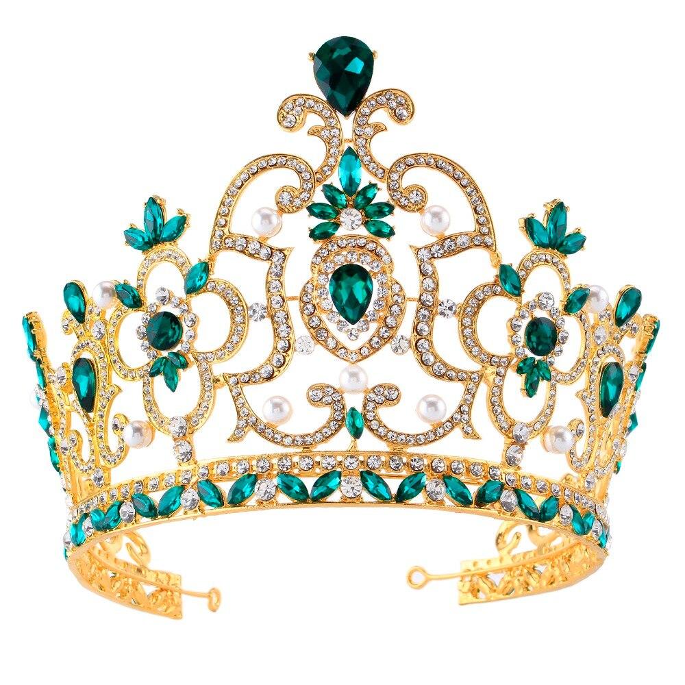 High-grade Alloy Bride Baroque Crown Accessories Personality Large Crown Headdress Wedding Queen Crown Wedding Women Jewelry
