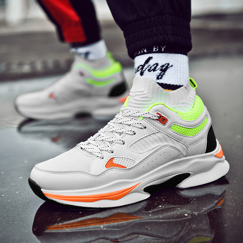 Official Original Authentic Men Height Increasing Running Outdoor Sport 720 Harden Run Socks Shoes Deportiva 270 Max 44 Sneaker Buy One Get One Free Sneakers