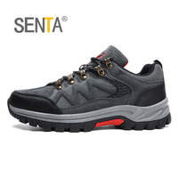 SENTA 2018 Men Hiking Shoes Waterproof Non Slip Outdoor Walking Shoes Mountain Sport Boots Climbing Sneakers