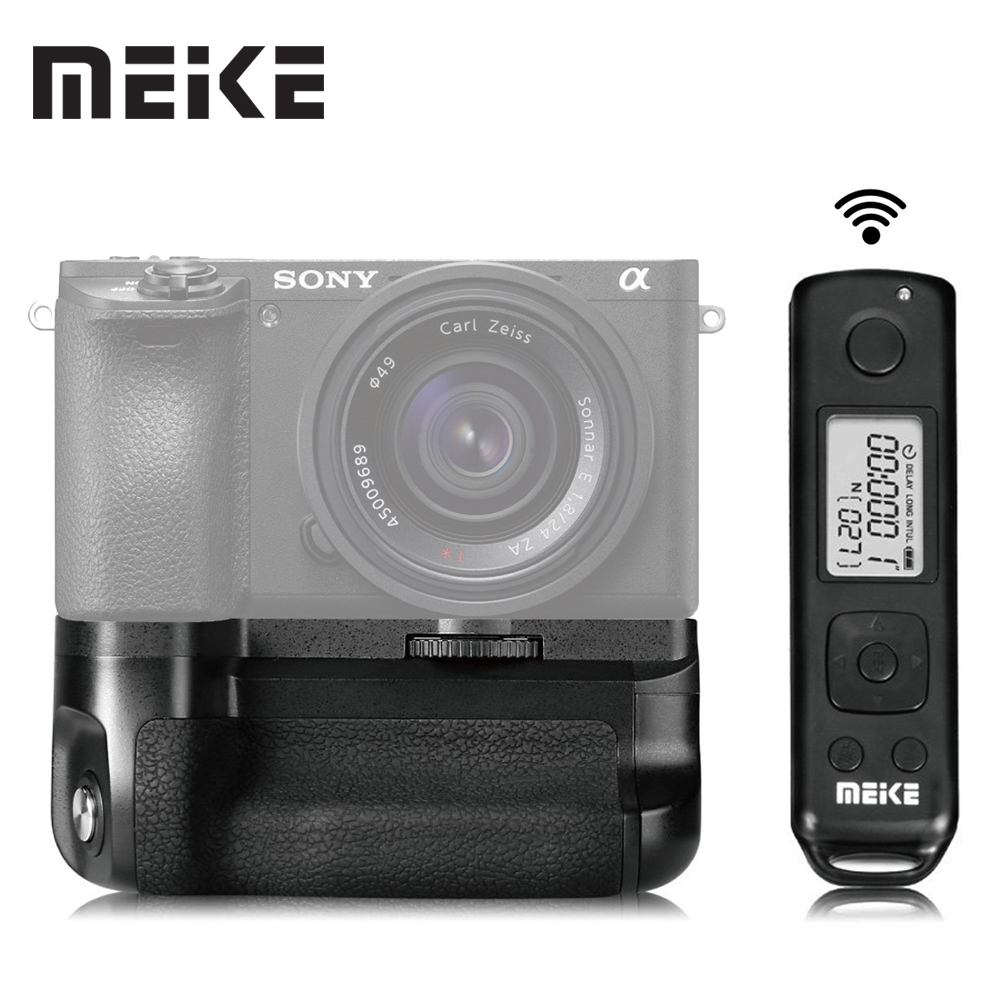 Meike MK-A6500 Pro Battery Grip Holder 2.4G with Remote For Sony A6500 Camera meike mk d750 battery grip pack for nikon d750 dslr camera replacement mb d16 as en el15 battery