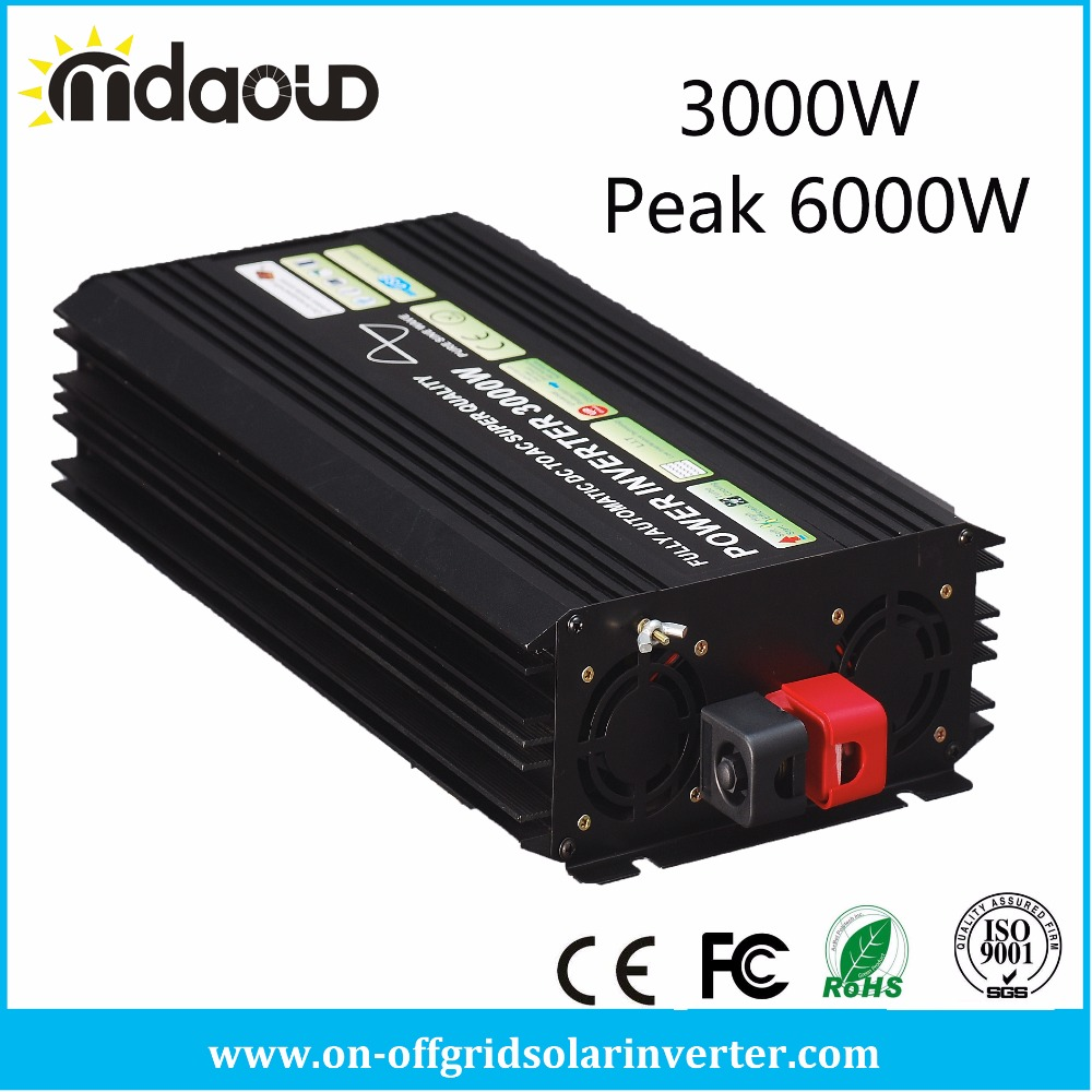 3000W/<font><b>6000W</b></font> PEAKING SOLAR Power <font><b>Inverter</b></font> CONVERTER DC12/<font><b>24V</b></font>/48V TO AC110/120/220/230/240V Pure Sine Wave OUTPUT image