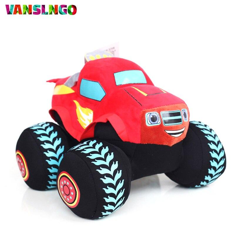 High Quality Popular Blaze Monster Plush Toy Cartoon Cool Car Soft Stuffed Toys Kids Children Favorite Birthday Gifts Hot H534