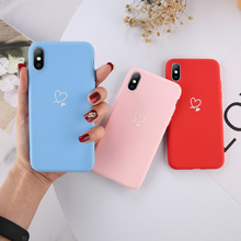 Fashion Love Heart Silicone Phone Case For iPhone 6 6S 7 8 Plus X XS XR XS Max 5 5s SE Candy Color Cases Soft TPU Back Cover soft cute pink tpu back cover for iphone 6 6s 7 8 plus silicone cases heart pattern for iphone 5 5s se x xr xs max