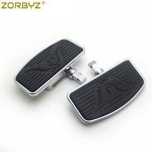 ZORBYZ motosiklet ayarlanabilir döşeme ayaklıklar Footrest Pad Honda VTX1300 VTX1800 Suzuki VL400 C50