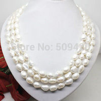 FREE SHIPPING>>@> > fast Shipping>>>natural 7 8mm white pearl long necklace big baroque beads 100